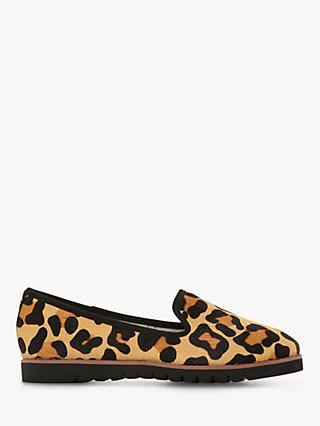 Dune Galleon Ridged Loafers, Leopard Print