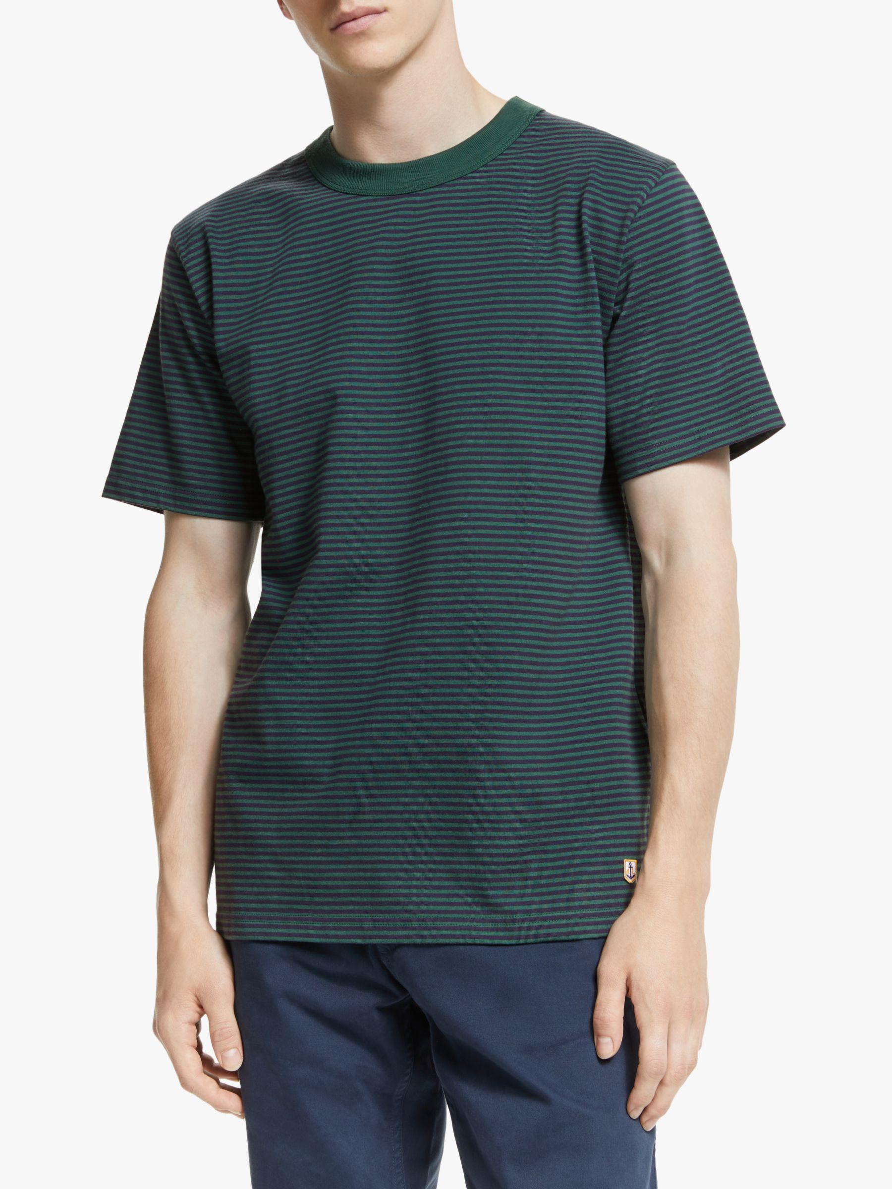 Armor lux Armor Lux Héritage Stripe T-Shirt, DBK Navire/Bottle