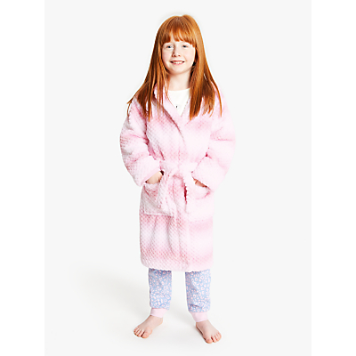 John Lewis & Partners Girls' Ombre Dressing Gown, Lilac
