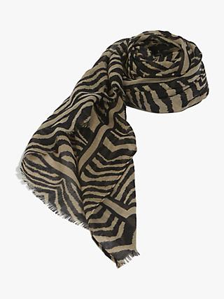 Oasis Tilly Tiger Scarf, Brown