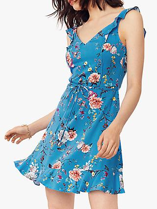 Oasis Floral Print Dress, Multi/Blue