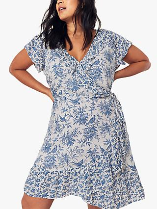 Oasis Curve Poplin Dress, Multi/Blue