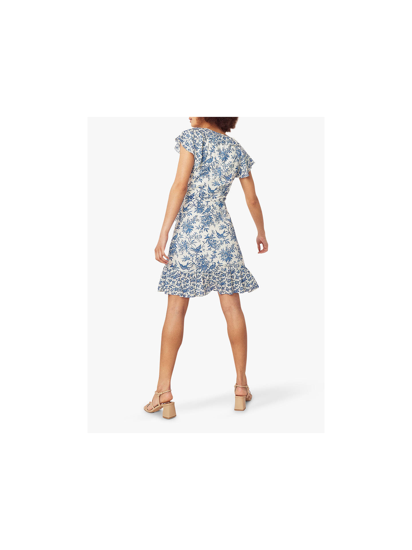 Buy Oasis Patch Print Dress, Blue/Multi, 6L Online at johnlewis.com