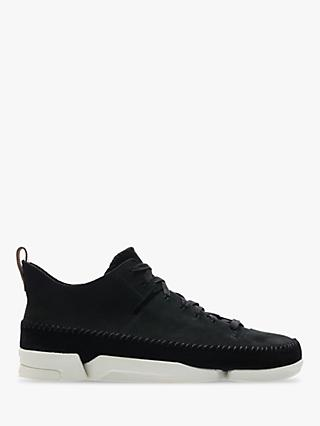 Clarks Originals Trigenic Flex Nubuck Trainers, Black