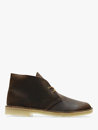 Clarks Originals Leather Desert Boots, Beeswax