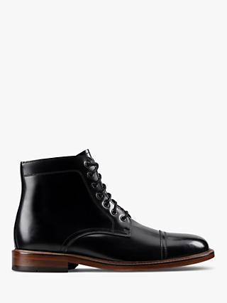 Clarks Craft Albert Leather Toecap Boots, Black