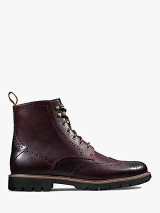 Clarks Batcombe Lord Brogue Boots, Burgundy