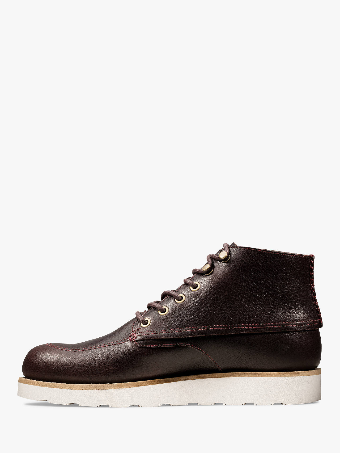 Buy Clarks Trace Quest Leather Boots, Burgundy, 7 Online at johnlewis.com