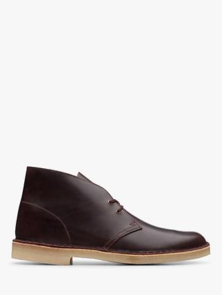 Clarks Originals Leather Desert Boots, Chesnut