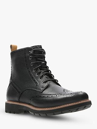 Clarks Batcombe Lord Brogue Boots, Black