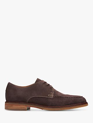 Clarks Clarkdale Apron Suede Derby Shoes, Dark Brown