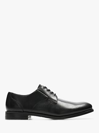 Clarks Edward Plain Derby Shoes, Black