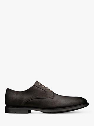 Clarks Ronnie Walk Derby Shoes, Dark Brown