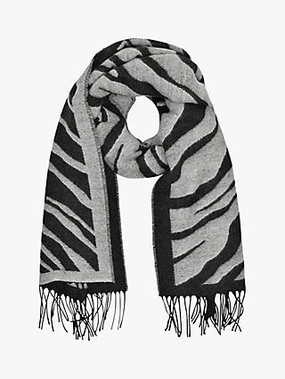 French Connection Tiger Jacquard Scarf