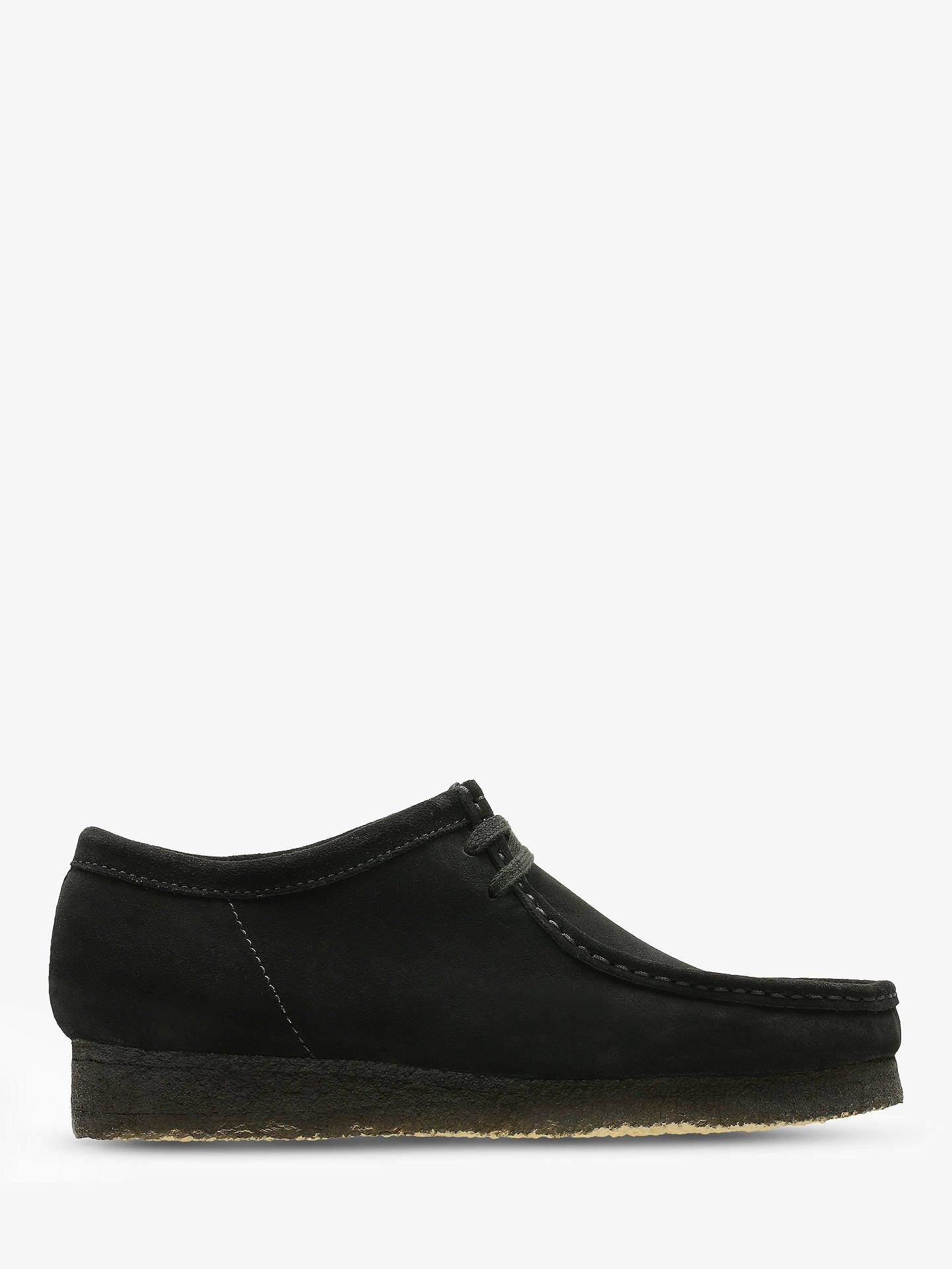 a43fc018f5aed7 Buy Clarks Originals Suede Wallabee Shoes, Black, 6 Online at johnlewis.com  ...