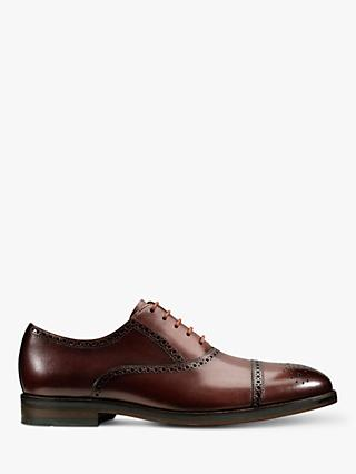 Clarks Limit Lace Leather Brogues, British Tan