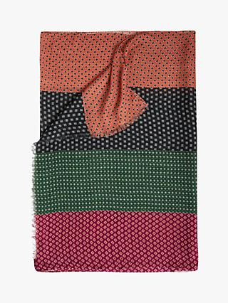 French Connection Bria Print Scarf, Cinnamon/Laurel