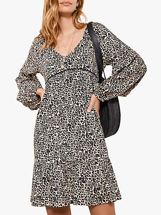 Mint Velvet Philippa Leopard Print Dress, Multi