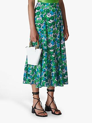 Whistles Zinnia Floral Skirt, Multi
