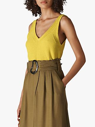 Whistles Knit Vest Top, Yellow
