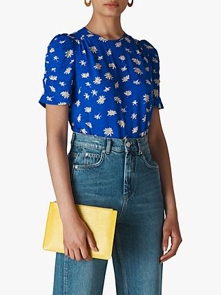 Whistles Scattered Daisy Shell Top, Blue/Multi