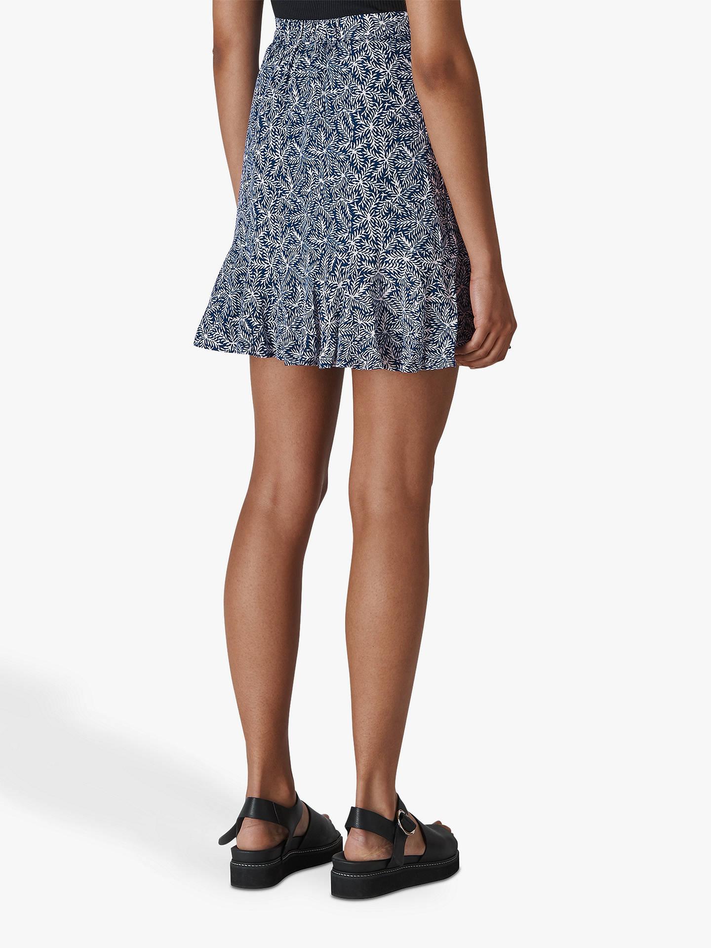 46e6ed17900 Whistles Etched Print Mini Skirt, Navy/Multi