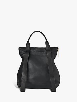 Whistles Verity Large Leather Backpack, Black