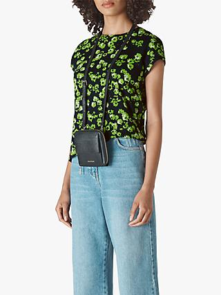 Whistles Minimal Digital Daisy Top, Navy/Multi