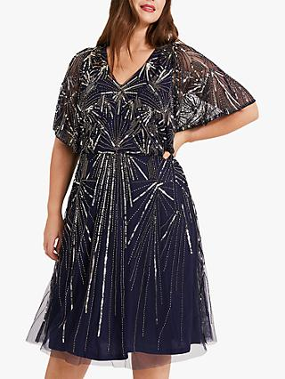 Studio 8 Zoe Beaded Dress, Navy