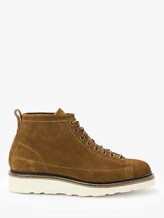 John Lewis & Partners Definitive Suede Welted Roofer Boots, Tobacco