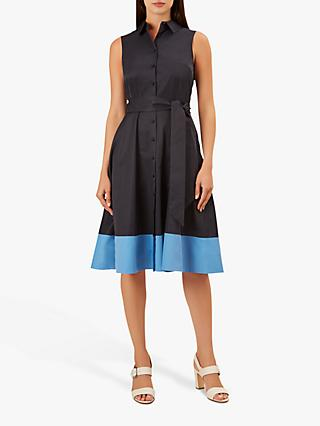 Hobbs Millie Dress, Navy/Sea Blue