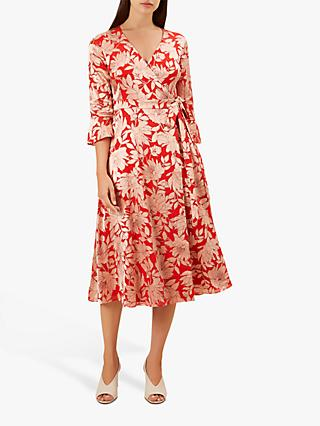 Hobbs Justina Dress, Red/Pink