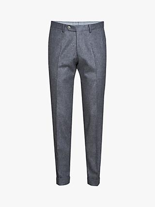 Oscar Jacobson Dean Wool Flannel Slim Fit Trousers