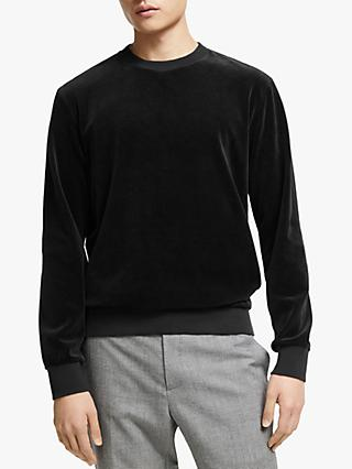 Kin Velour Sweatshirt, Black