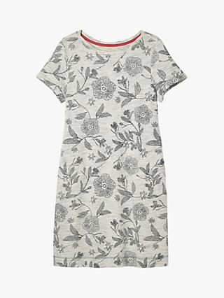 White Stuff Floral Jersey Dress, Grey Print