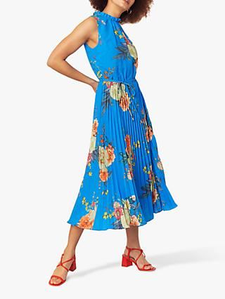 Oasis Botanical Midi Dress, Light Blue