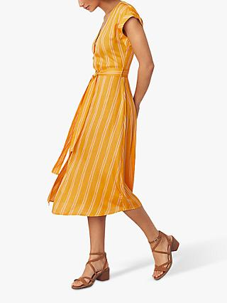 Oasis Stripe Button Dress, Yellow