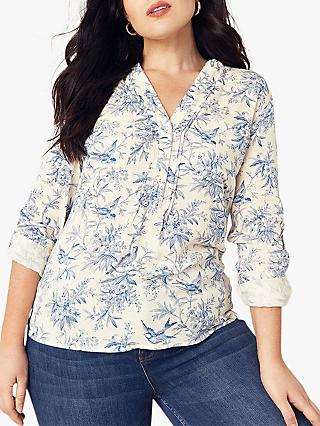 Oasis Curve Bernie Print Shirt, Neutral/Multi