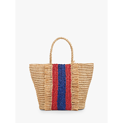 L.K.Bennett Leya Raffia Tote Bag, Natural/Multi
