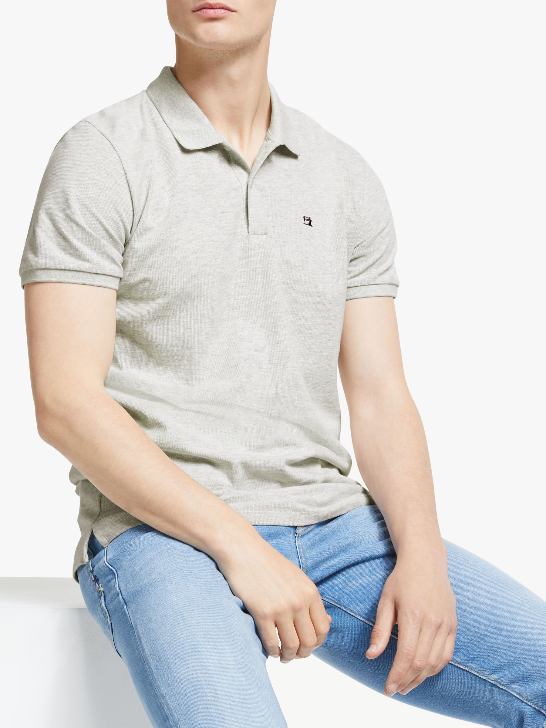 Scotch & Soda Scotch & Soda Garment Short Sleeve Pique Polo Shirt