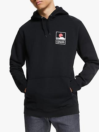 Edwin Sunset on Mt Fuji Hoodie, Black