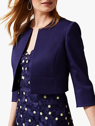 Phase Eight Tara Textured Jacket, Lapis