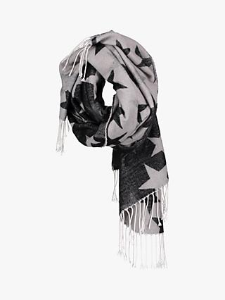 Betty Barclay Double Star Scarf, Grey/Black