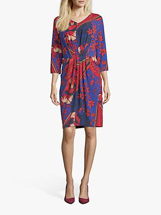 Betty Barclay Floral Print Dress, Dark Blue/Red