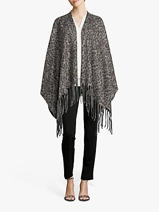 Betty Barclay Animal Knitted Cape, Taupe/Black