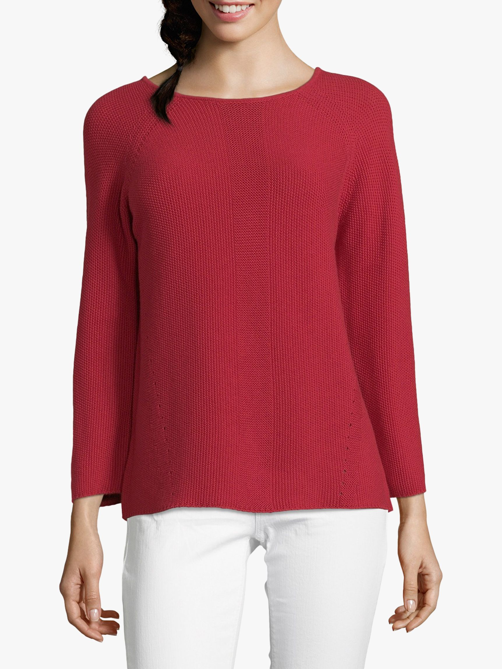 Betty Barclay Betty Barclay Textured Jumper, Scarlet Red