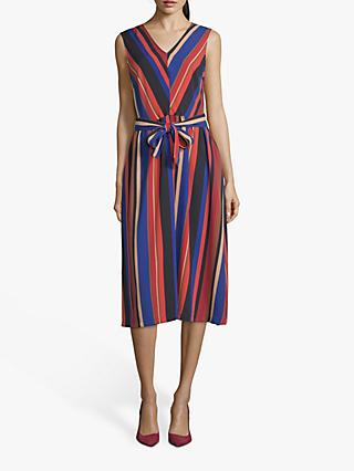 Betty Barclay Striped Midi Dress, Blue/Red