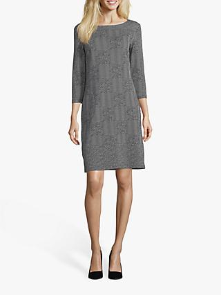 Betty Barclay Stretch Crêpe Dress, Black/Cream