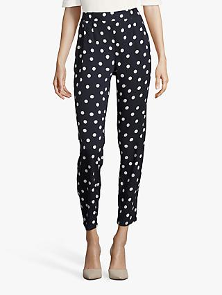 Betty Barclay Polka Dot Trousers, Dark Blue/Cream