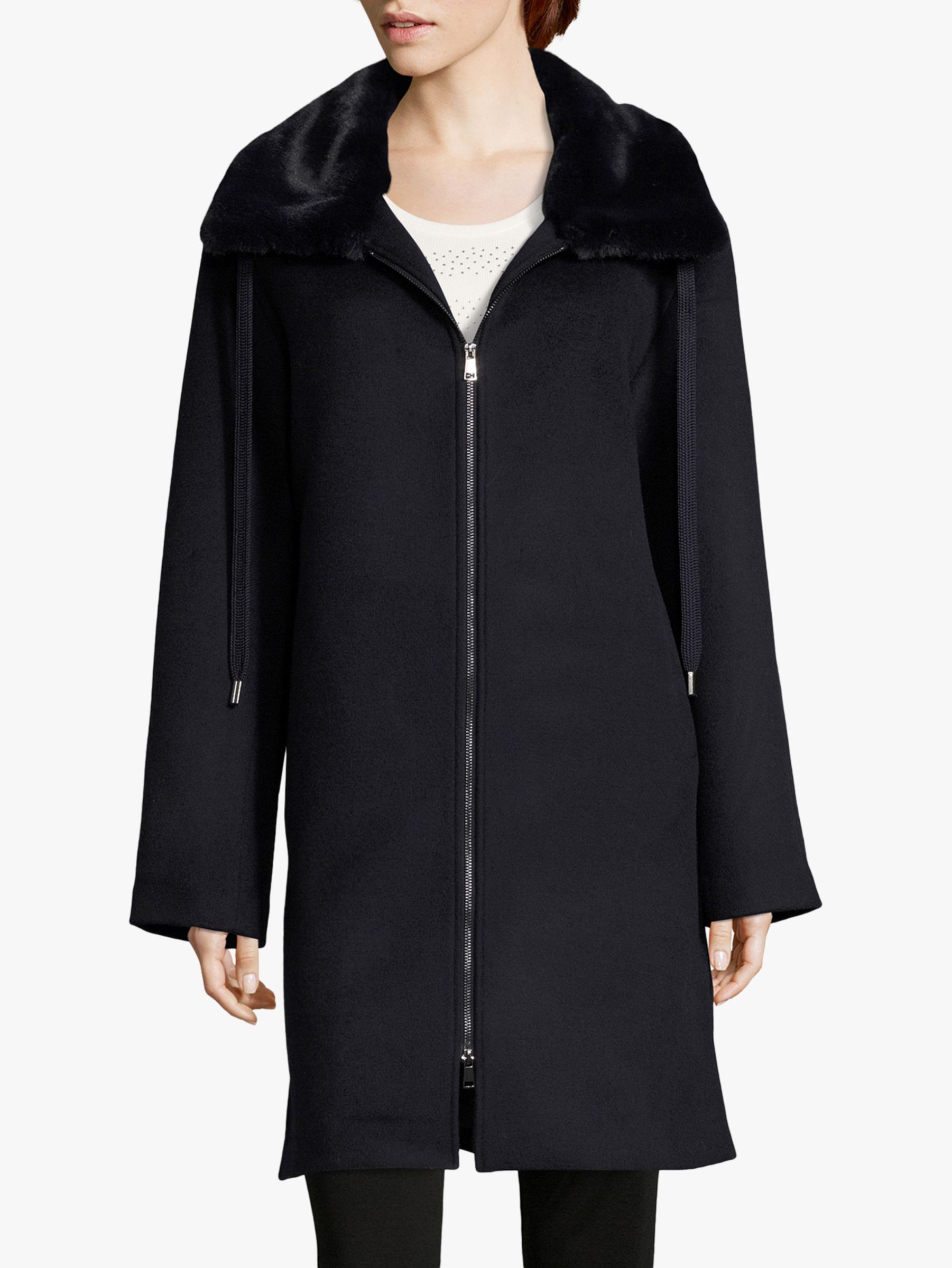 Betty Barclay Betty Barclay Faux Fur Collar Coat